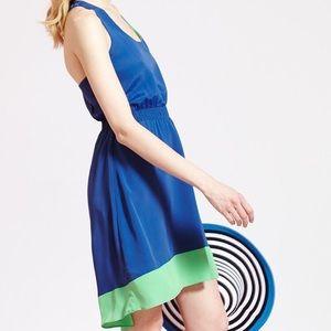 Dark blue and green dress